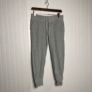 Junk food grey ankle cropped joggers